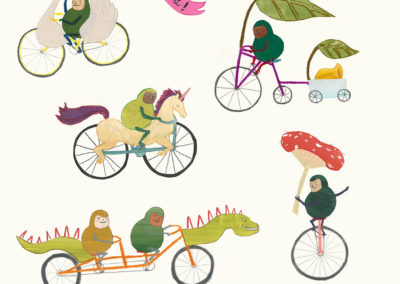 Gnomes on Bicycles